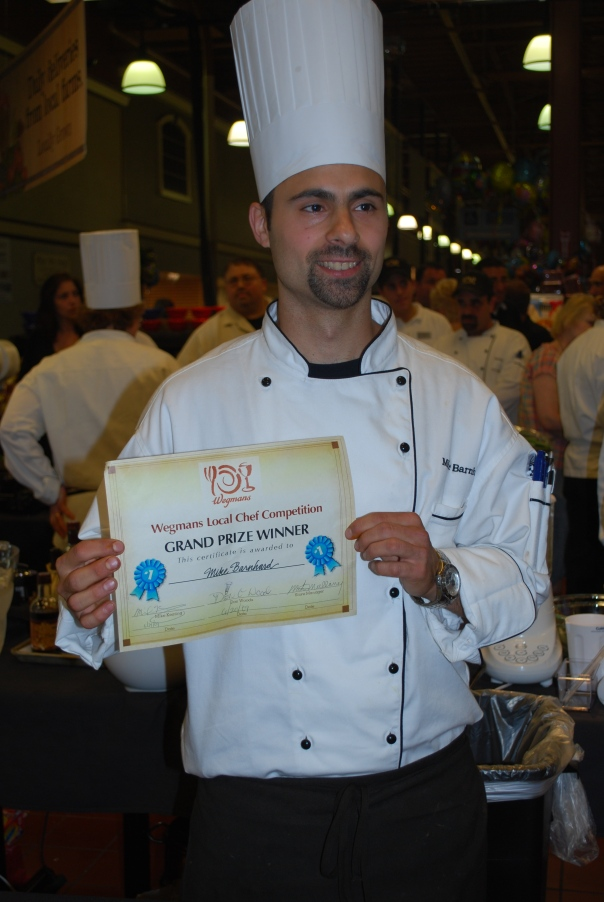 Winner of the first annual Wegmans Chef 'Throwdown' competition:  Chef Mike from the Sheridan Drive store